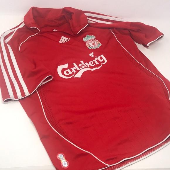 Vintage adidas Liverpool soccer jersey boys medium